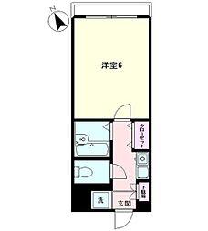 ベルビー早稲田377[2階]の間取り