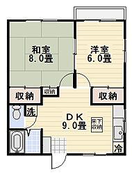 SAKURAYAMA VILLA[101号室]の間取り