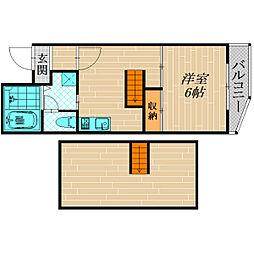 三笠マンション[4階]の間取り