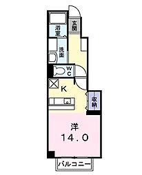 ウルーアンジュ1[1階]の間取り