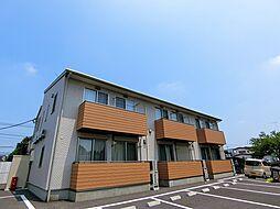 栃木県真岡市上高間木3丁目の賃貸アパートの外観