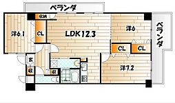 メゾンド・ファミーユ門司港[10階]の間取り