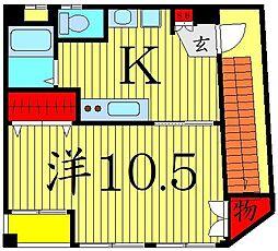 堀切4丁目秋山ビル[2階]の間取り