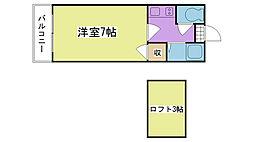 シャトレ隈III[1階]の間取り