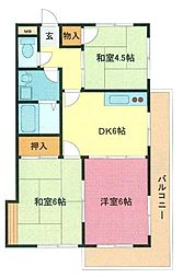 埼玉県さいたま市浦和区瀬ケ崎2丁目の賃貸マンションの間取り
