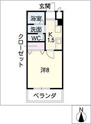 メゾンショワール[3階]の間取り