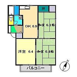 セフィラハイツ[2階]の間取り
