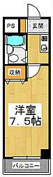 四ノ宮コート[505号室]の間取り