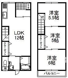 [一戸建] 大阪府大阪市中央区上汐1丁目 の賃貸【/】の間取り
