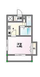 ルミエールHONGO[3階]の間取り