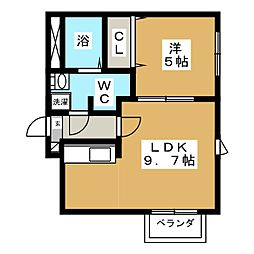 La Comodita Kotoni(ラ コモディタ コトニ[2階]の間取り