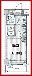 フュージョナル東墨田 2階1Kの間取り
