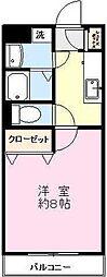 ラフィーヌ[1階]の間取り