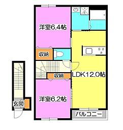Bloom Stat[2階]の間取り