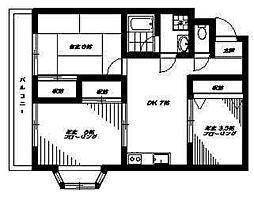 東京都杉並区下井草2丁目の賃貸マンションの間取り