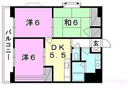 フロント・フィールド[305 号室号室]の間取り