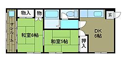 山口アパート[2階]の間取り