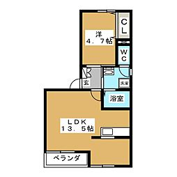 エッグカップ百合が丘[1階]の間取り