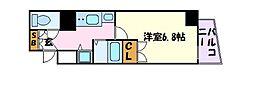 名古屋市営東山線 覚王山駅 徒歩4分の賃貸マンション 2階1Kの間取り