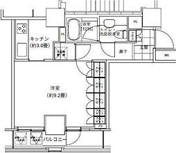 パークキューブ愛宕山タワー[15階]の間取り