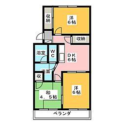 マンション藤田[2階]の間取り