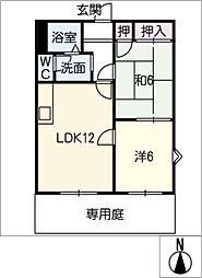 メゾンフラワー[1階]の間取り