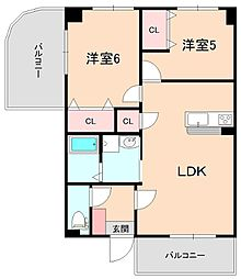 レジデンスマロン参番館[3階]の間取り