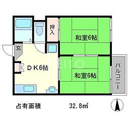 タウニィサングット[2階]の間取り