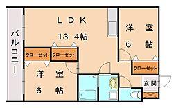 コスモビル[3階]の間取り