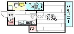 ジャン・プラス・ソック千里山III[5階]の間取り