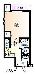 フジパレス園田東 1階1Kの間取り