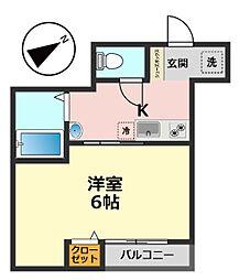 東京都葛飾区新小岩1丁目の賃貸アパートの間取り