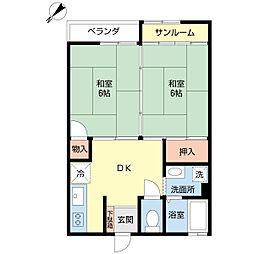 新潟県新潟市西区寺尾朝日通の賃貸アパートの間取り