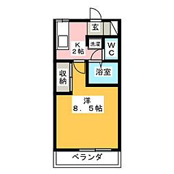 金川ハイム[2階]の間取り