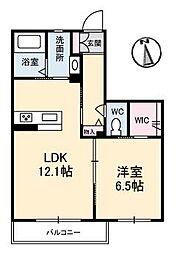 LUNA A棟[A202 号室号室]の間取り