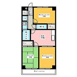 ロイヤル桜コーポラス[4階]の間取り