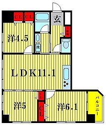サンスプレンダー吾妻橋[5階]の間取り