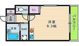 大阪府大阪市東住吉区山坂5の賃貸マンションの間取り