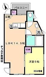 東京メトロ丸ノ内線 茗荷谷駅 徒歩7分の賃貸アパート 3階1LDKの間取り