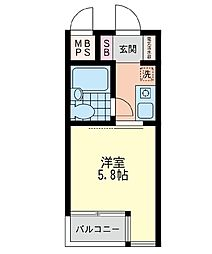 神奈川県横浜市戸塚区上倉田町の賃貸マンションの間取り