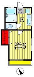 コーポKAWASE[1階]の間取り