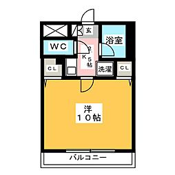 ハピネス岩崎[3階]の間取り