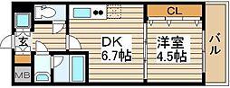 シャルマンフジ福島[9階]の間取り
