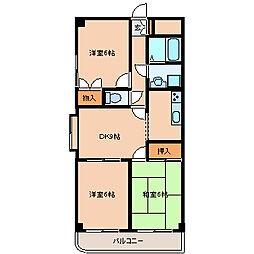デルフィ壱番館[4階]の間取り