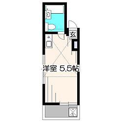 東京都西東京市保谷町4丁目の賃貸アパートの間取り