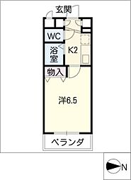 ヴェルテコート南栄[1階]の間取り