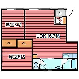 カントリーハウス[2階]の間取り