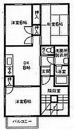 菊地マンション[3階]の間取り