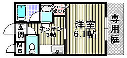 ピーコック和泉[106号室]の間取り