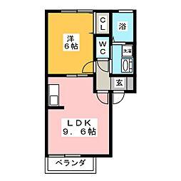 セジュールシャトー[2階]の間取り